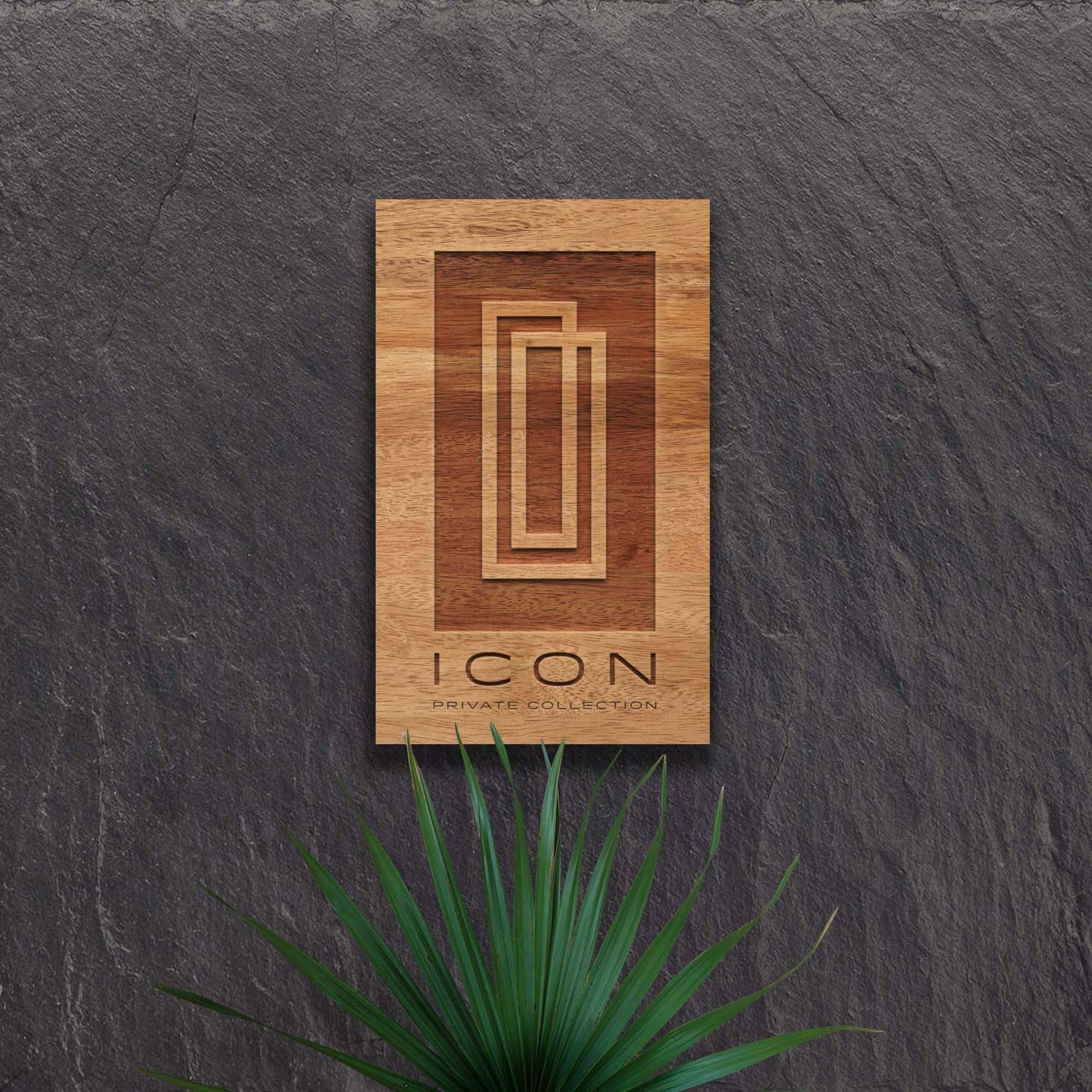 ICON private collection-logo hotel plaque