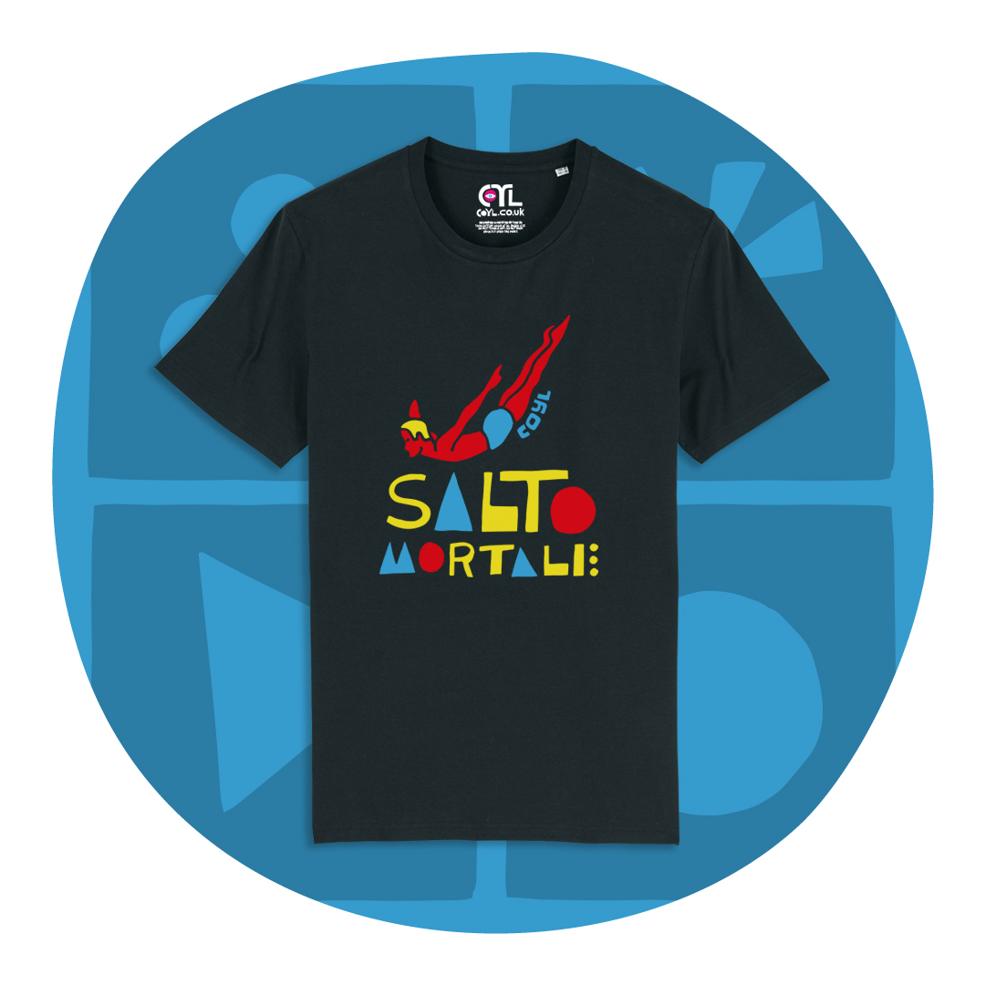 COYL_instagram board-salto mortale t-shirt black rounded